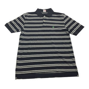 Brooks Brothers Navy Striped S/S Polo Shirt Size M